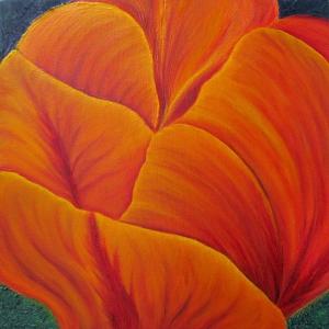 Çiçekler 5, Laleler, Turuncu İç Mekan Dekoratif Kanvas Tablo