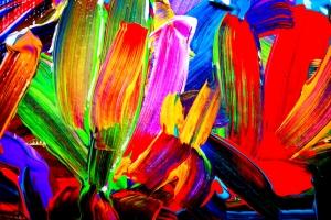 Çiçekler Abstract Tablo Soyut Yağlı Boya Sanat Kanvas Tablo