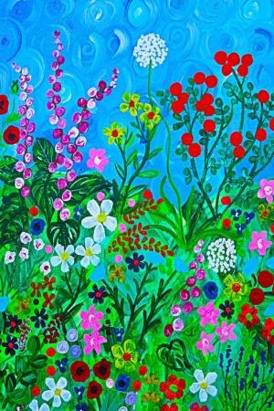 Çiçekler- FLoral-3, İç Dekorasyon Çiçek Temalı Dijital Baskılı Kanvas Tablolar