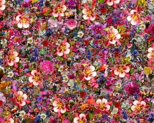 Çiçekler Floral Kolaj Yağlı Boya Sanat Kanvas Tablo