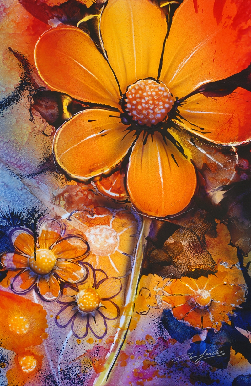 Çiçekler Floral Yağlı Boya Sanat Kanvas Tablo