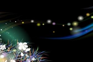 Çiçekler ve Dalga Dijital Fantastik Kanvas Tablo
