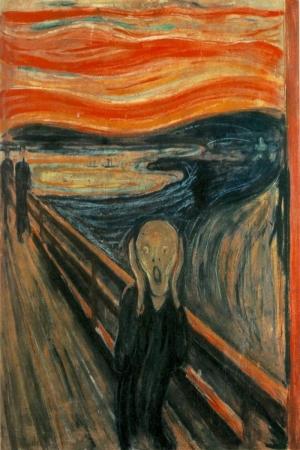 Çığlık Korku Yağlı Boya Sanat Kanvas Tablo