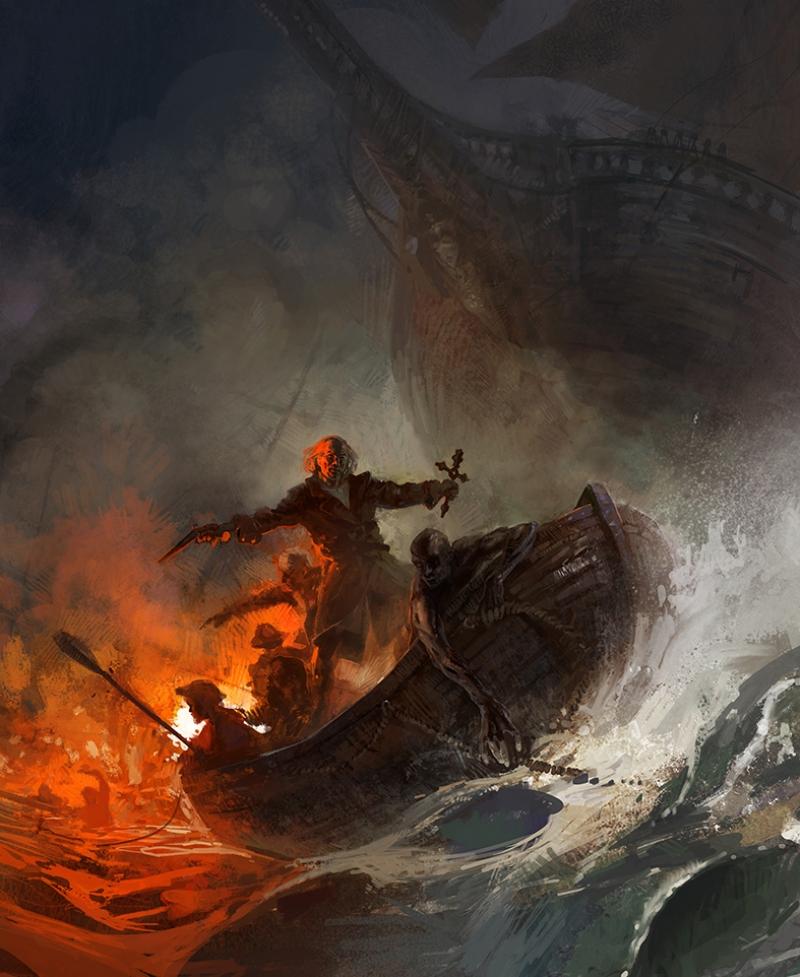 Çılgın Denizci Yağlı Boya Sanat Kanvas Tablo