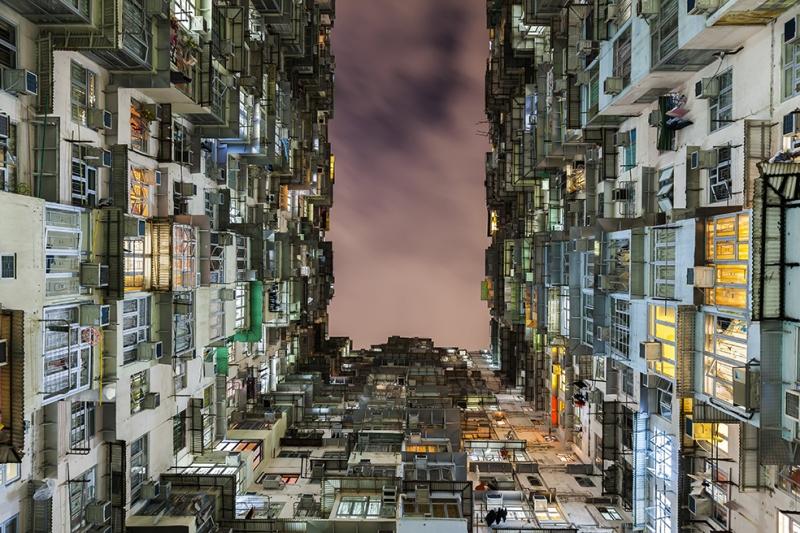 Çin Apartmanları Şehir Manzarası Dünyaca Ünlü Şehirler Kanvas Tablo