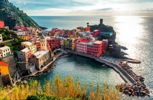 Cinque Terre İtalya 2 Dünyaca Ünlü Şehirler Kanvas Tablo
