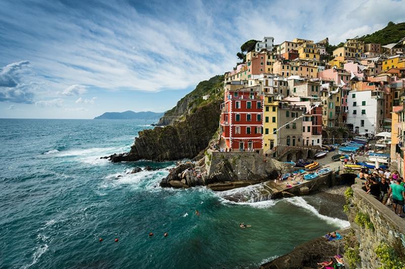 Cinque Terre İtalya Dünyaca Ünlü Şehirler Kanvas Tablo