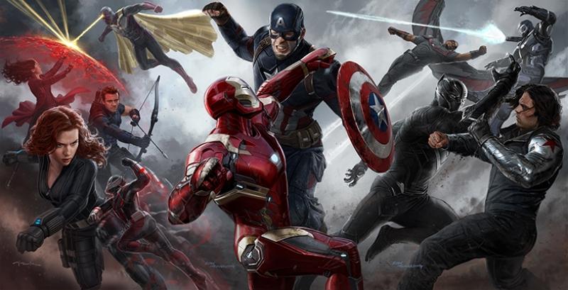 Civil War Marvel Konsept Çizim Kanvas Tablo