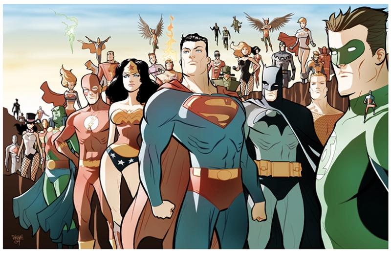 Çizgi Film Süper Kahramanlar Kanvas Tablo
