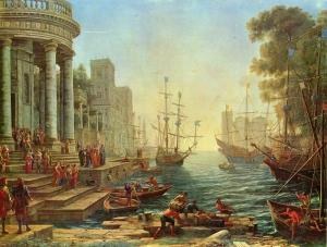 Claude Lorrain St Ursula Liman Yağlı Boya Klasik Sanat Kanvas Tablo