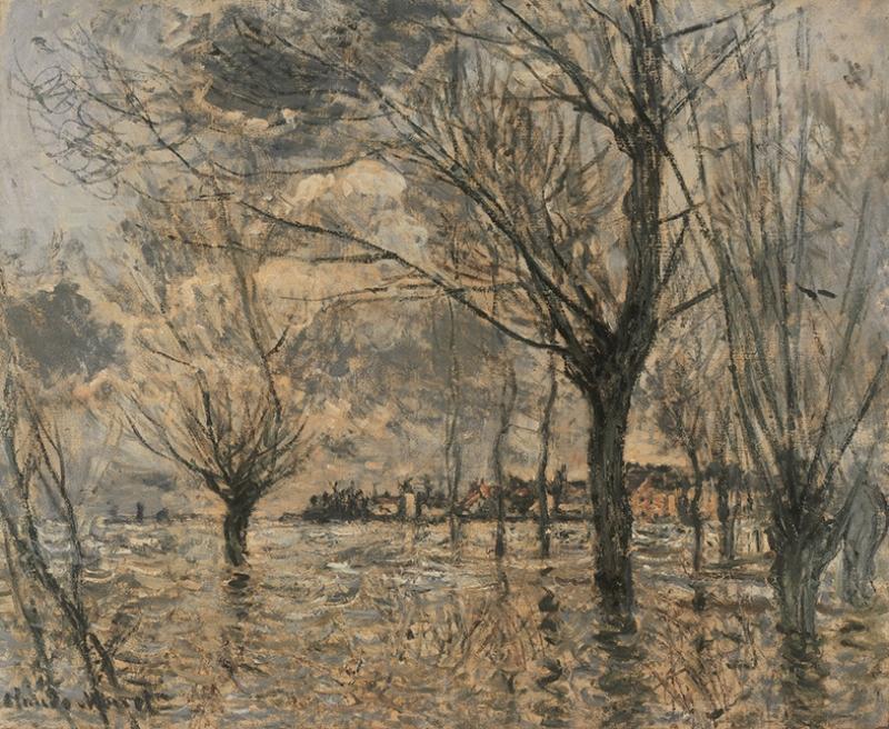 Claude Monet Kompozisyon Yağlı Boya Sanat Kanvas Tablo