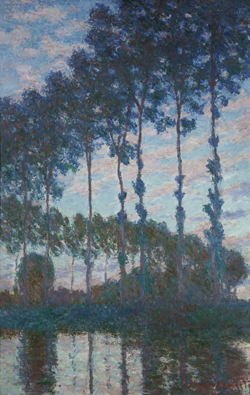 Claude Monet Peupliers Yağlı Boya Sanat Kanvas Tablo