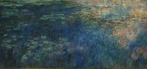 Claude Monet Suyun Üstünde Bulutların Yansıması Yağlı Boya Klasik Sanat Canvas Tablo