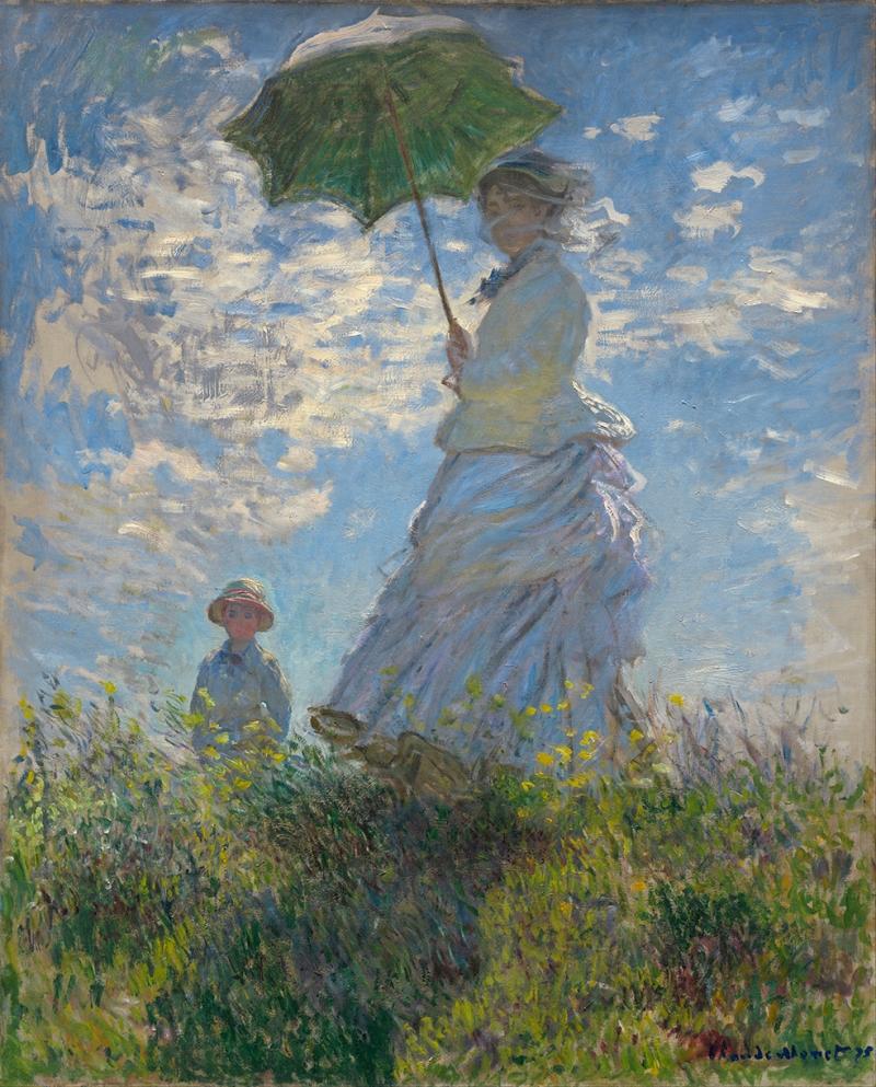 Claude Monet Woman With A Parasol Yağlı Boya Sanat Kanvas Tablo