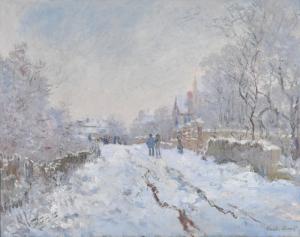 Claudia Monet Kış Manzarası Karlar Yağlı Boya Reprodüksiyon Klasik Sanat Kanvas Tablo