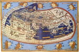 Claudius Ptolemy Eski Cizim Dunya Haritasi Cografya Canvas Tablo