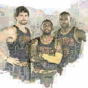 Cleveland Mozaik İllustrasyon Kanvas Tablo