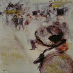 Clichy Yerine, Pierre August Renoir La Place Clichy Klasik Sanat Kanvas Tablo