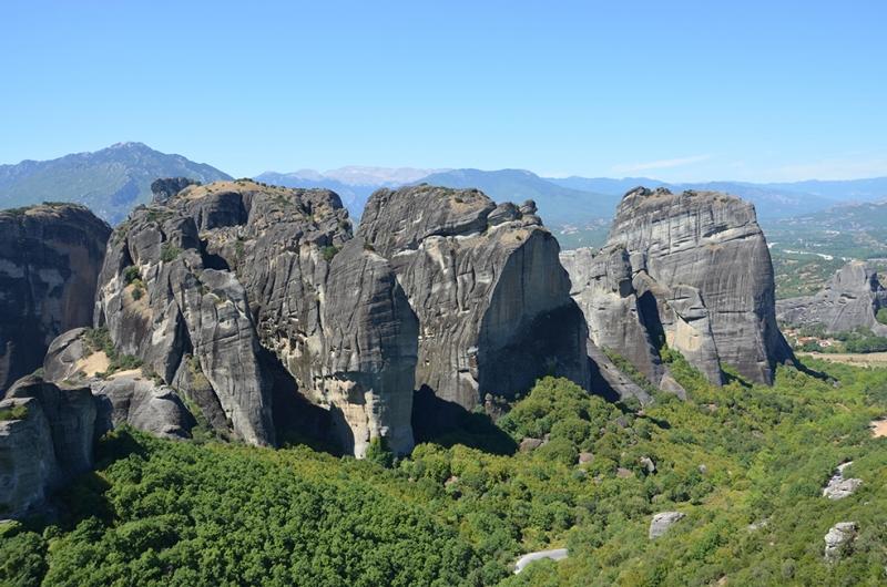 Cliff Kayaları Yunanistan Unesco Dünya Kültür Mirasları Kanvas Tablo
