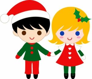 Clipart For Kids Christmass Kids Bebek & Çocuk Dünyası Kanvas Tablo