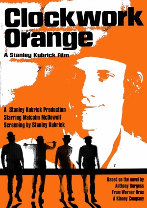 Clockwork Orange Otomatik Portakal Afiş Kanvas Tablo
