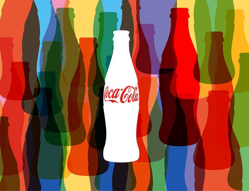 Coca Cola Renkli Şişe Retro Kanvas Tablo