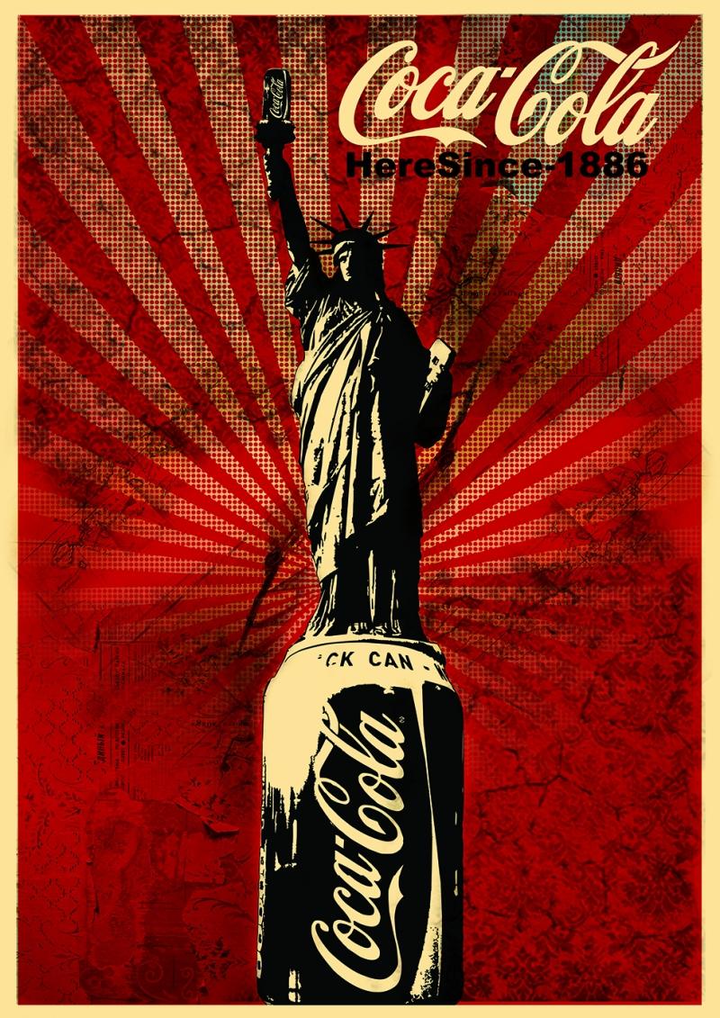 Coca Cola Retro & Motto Kanvas Tablo