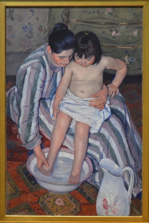 Çocuğun Banyosu Mary Cassatt The Child's Bath 1893 Reprodüksiyon Kanvas Tablo