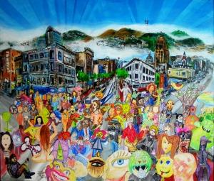 Çocuk Dünyası Yağlı Boya Sanat Kanvas Tablo
