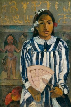 Çok Anne Babalı Tehamana Has Many Parents Paul Gauguin Reproduksiyon Kanvas Tablo