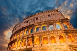 Colezyum Roma Dünyaca Ünlü Şehirler Kanvas Tablo