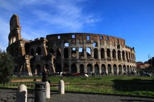 Collesseo Roma, İtalya, Akşam Manzara-13 Dünyaca Ünlü Şehirler Kanvas Tablo