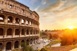 Collesseo Roma, İtalya, Akşam Manzara-14 Dünyaca Ünlü Şehirler Kanvas Tablo