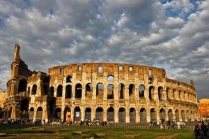Collesseo Roma, İtalya, Akşam Manzara-15 Dünyaca Ünlü Şehirler Kanvas Tablo