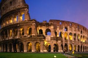 Collesseo Roma İtalya Akşam Manzara-2 Dünyaca Ünlü Şehirler Kanvas Tablo