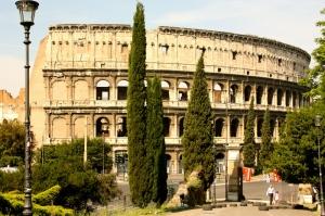 Collesseo Roma İtalya Akşam Manzara-3 Dünyaca Ünlü Şehirler Kanvas Tablo