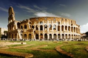Collesseo Roma İtalya Akşam Manzara-5 Dünyaca Ünlü Şehirler Kanvas Tablo