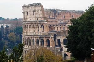 Collesseo Roma İtalya Akşam Manzara-6 Dünyaca Ünlü Şehirler Kanvas Tablo