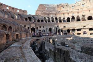 Collesseo Roma İtalya Akşam Manzara-7 Dünyaca Ünlü Şehirler Kanvas Tablo