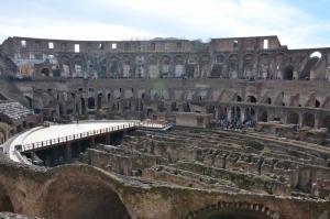 Collesseo Roma, İtalya, Akşam Manzara-8 Dünyaca Ünlü Şehirler Kanvas Tablo