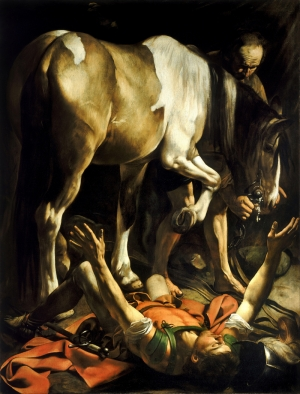 Conversion On The Way To Damascus Caravaggio Sanat Kanvas Tablo