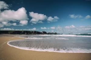 Cornwall Sahili İngiltere Doğa Manzaraları Kanvas Tablo