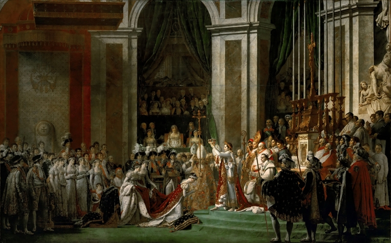 Coronation Of The Emperor Napoleon Sanat Kanvas Tablo