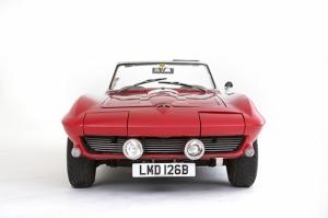 Corvette Stingray Kırmızı Klasik Otomobil Kanvas Tablo