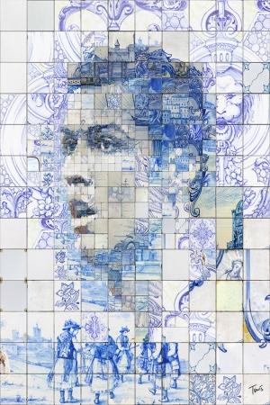 Cristiano Ronaldo-3 Mozaik İllustrasyon Kanvas Tablo