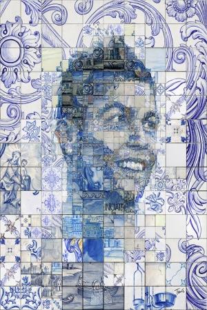 Cristiano Ronaldo-4 Mozaik İllustrasyon Kanvas Tablo