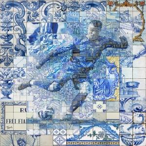 Cristiano Ronaldo-5 Mozaik İllustrasyon Kanvas Tablo