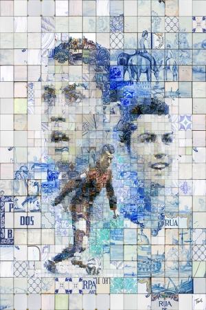 Cristiano Ronaldo Mozaik İllustrasyon Kanvas Tablo