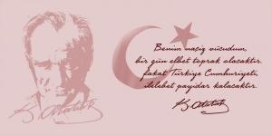 Cumhuriyet, Mustafa Kemal Atatürk Kanvas Tablo