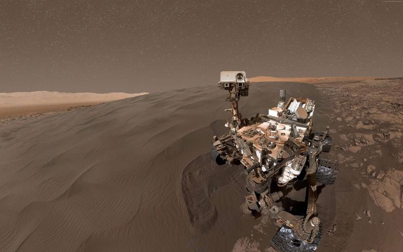 Curiosity Rover Mars Selfie Dünya & Uzay Kanvas Tablo